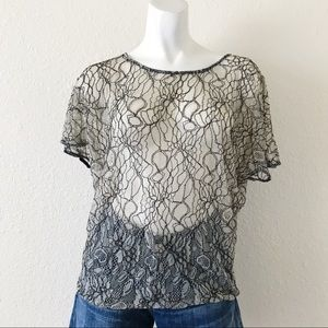UO | PINS AND NEEDLES LACE DOLMAN SLEEVES TOP I10